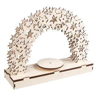 """Rayher 3D houten bouwset """"Ster"""" met draaischijf 30x9x23,5cm"""
