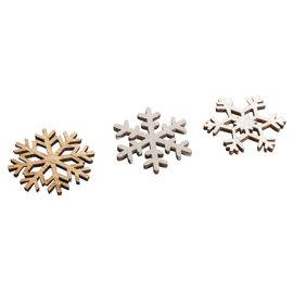 Strooihoutjes Sneeuwvlokken 3,8cm