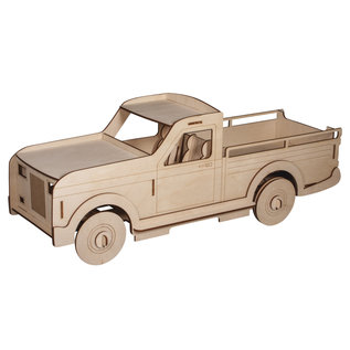 3D Houten 3D laadwagen groot
