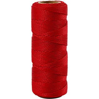 Bamboekoord, 1 mm, Rood, 65 M, 1 Rol