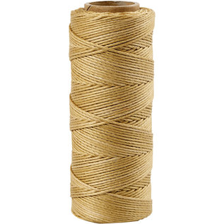 Bamboekoord, 1 mm, Goud, 65 M, 1 Rol