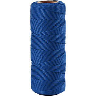 Bamboekoord, 1 mm, Blauw, 65 M, 1 Rol