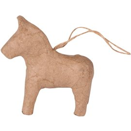 Clairefontaine Papier-mache Paard met op ophangoog