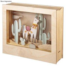 Rayher Houten bouwset 3D lijst Lama