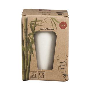Bamboe to go beker 500ml 10cm 13,5cm