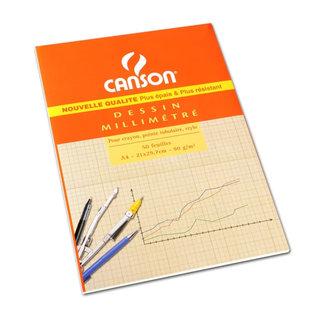 Canson Canson Millimeterpapier 50 vellen A4 90g/m²