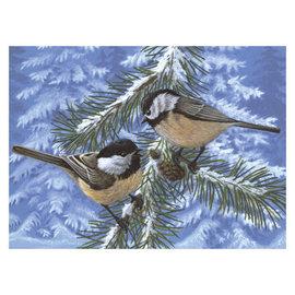 Schilderen op nummer - Adult Large PINE BIRDS