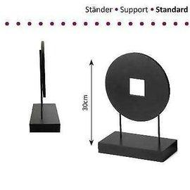 Standaard hout-metaal 1x cirkel 30cm hoog
