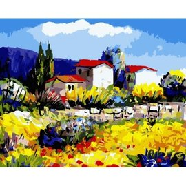Painting by Numbers Kit Provence Village 40x50cm