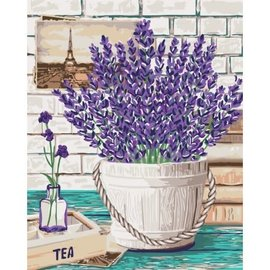 Painting by Numbers Kit Lavender Aroma 40x50cm