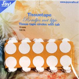 JOY! Tissuetape-rondjes met treklipje - Ø15 mm