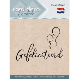 Card Deco Card Deco Essentials - Clear Stamps - Gefeliciteerd