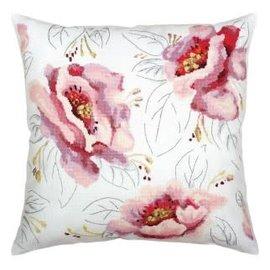 """DMC Kruissteek kit """"Tederheid van roze bloemen"""" 40x40 cm"""