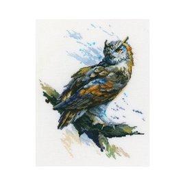"DMC Kruissteek kits ""Eagle Owl""  21x27cm"