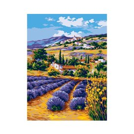 Collection d'art Tapestry Printing Canva Levendelvelden in de Provence