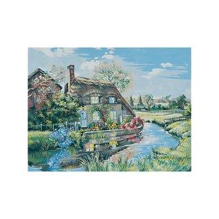 """Collection d'art Bedrukt stramien """"Landschap"""""""