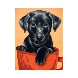 "Collection d'art Bedrukt stramien ""Labrador"" 20x25cm"