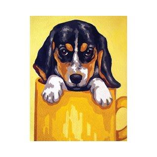 "Collection d'art Bedrukt stramien ""Hond"" 20x25cm"