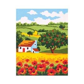 """Collection d'art Bedrukt stramien """"Landschap"""" 20x25cm"""