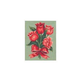 """Collection d'art Bedrukt stramien """"Tulpen"""" 20x25cm"""
