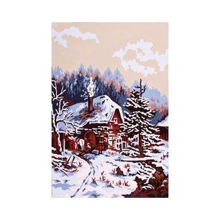 """Collection d'art Bedrukt stramien """"Winterlandschap"""" 30x40cm"""