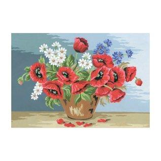 """Collection d'art Bedrukt stramien """"bloemen"""" 40x30cm"""