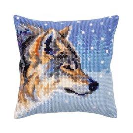 "Collection d'art Kruissteekkussen ""Winter animals"" 40x40cm"