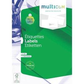 Multicom Multicom Etiketten A4 100vel zelfklevend 105x33.8mm wit