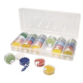 Rayher Opbergbox voor rocailles-doosjes, 26,7x12,2x4,7cm,voor max. 42 doosjes