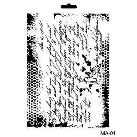 CADENCE Art & Hobby Stencil Ma Aerisi - geschreven tekst 21x29cm