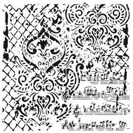 CADENCE Art & Hobby Stencil GCSM - Grunch ornament 25x25cm