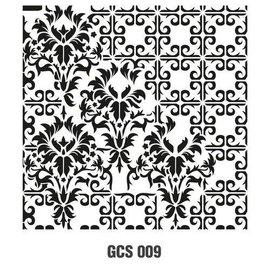 CADENCE Art & Hobby Stencil GCS - Grunch ornament 45X45cm
