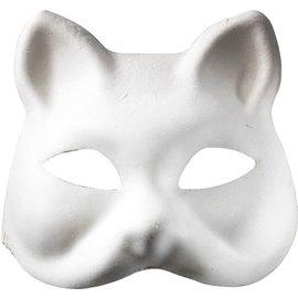 Masker Kat om zelf te versieren