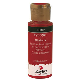 Rayher Peinture tous usages, rouge cadmium, flacon 59 ml