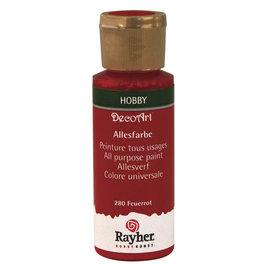 Rayher Peinture tous usages, rouge feu, flacon 59 ml