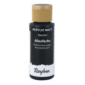 Rayher Allesverf acryl Zwart 59 ml