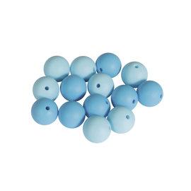 Rayher Siliconekralen 15mm rond 14st. lichtblauw