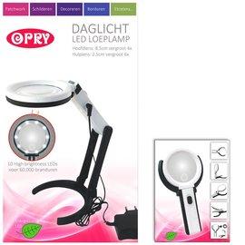 Opry Daglicht LED loeplamp oplaadbaar 8,5 cm diameter
