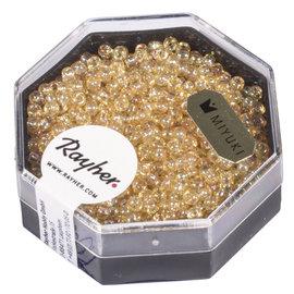 Rayher Premium-rocailles 2,2 mm topaze clair 8g. transparent Rainbow