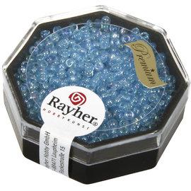 Rayher Premium-rocailles 2,2mm aigue-marine 8g. transparent Rainbow