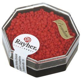 Rayher Premium-rocailles 2,2mm vuurrood 8 g, opak