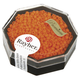 Rayher Premium-rocailles 2,2mm capri oranje 8g, opaak