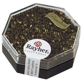 Rayher Delica-rocailles 2,2 mm rook top 4g. metallic mat