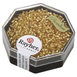 Rayher Delica-rocailles 1,6 mm licht top  6g, met zilverkern