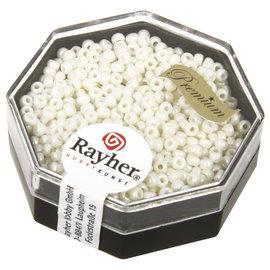 Rayher Premium-rocailles, 2,2mm, parelmoer, opaak lustre, 8g