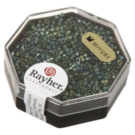 Rayher Delica-rocailles 1,6mm metallic smarag. 4g.