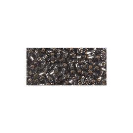 Rayher Delica-rocailles 2,2 mm antraciet 9g. met zilverkern