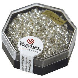 Rayher Delica-rocailles 2,2mm bergcristal met zilverkern