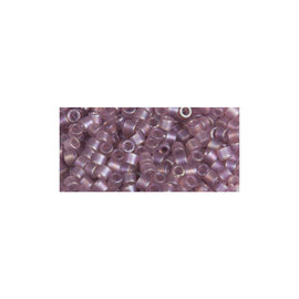 Rayher Delica-rocailles 2,2mm seringe transparant rainbow mat