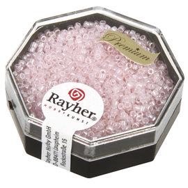 Rayher Delica-rocailles 1,6mm pouderroze 8 g, parelglans